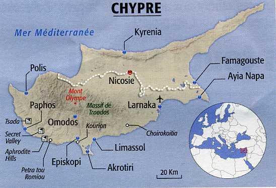 Carte Crete Chypre.Organisation De Vos Sejours A Chypre
